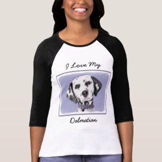 Camiseta Pintura Dalmatian - arte original bonito do cão