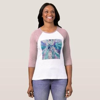 Camiseta Pintura de água geométrica com citações inspiradas