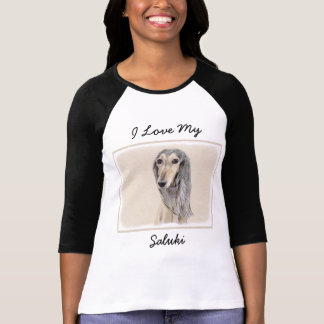 Camiseta Pintura de Saluki (jovem corça) - arte original