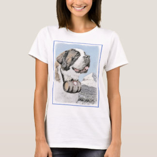 Camiseta Pintura de St Bernard - arte original bonito do