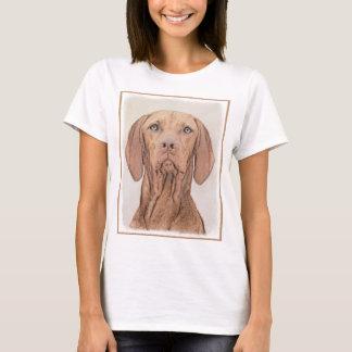 Camiseta Pintura de Vizsla - arte original bonito do cão