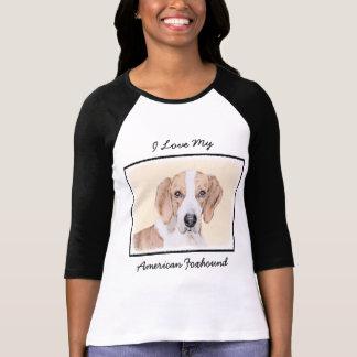Camiseta Pintura do Foxhound americano - arte original