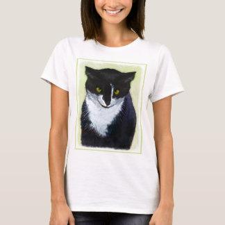 Camiseta Pintura do gato do smoking - arte original bonito
