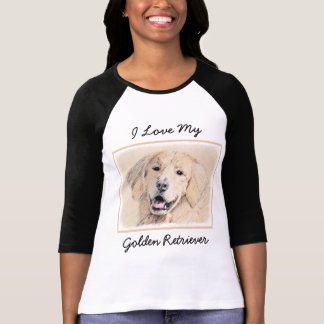 Camiseta Pintura do golden retriever - arte original bonito