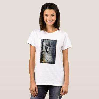 Camiseta pintura do poema da arte de New York da estátua da