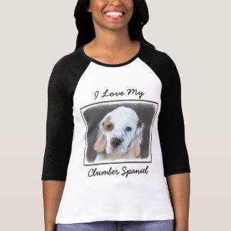 Camiseta Pintura do Spaniel de Clumber - arte original
