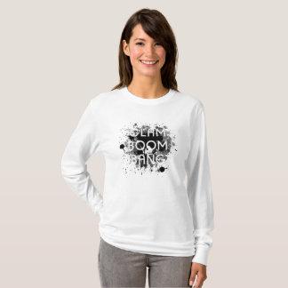 Camiseta Pintura escura Splat do golpe Glam do crescimento