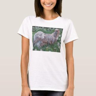 Camiseta Pintura farpada das belas artes do Collie na
