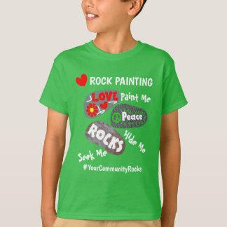 Camiseta Pintura Hashtag personalizado a comunidade da
