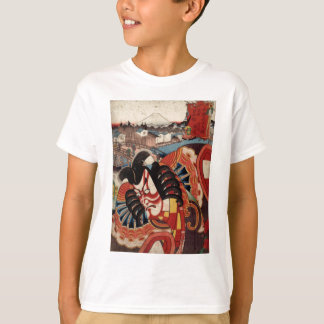 Camiseta Pintura japonesa do vintage - ator de Kabuki