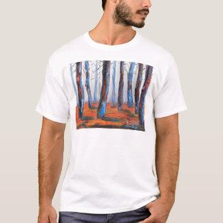Camiseta Pintura original da sequóia vermelha, árvores de