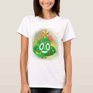 Camiseta Pintura pistola da árvore de Natal de Emoji
