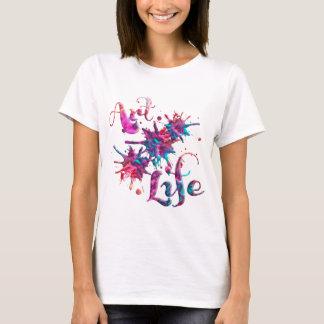 Camiseta Pintura Splats da vida da arte