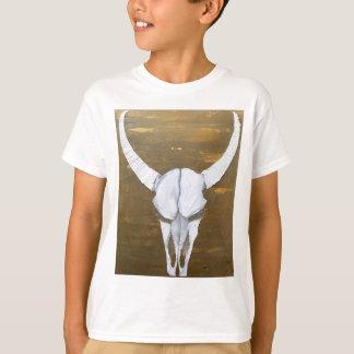 Camiseta Pintura Textured do crânio de Bull - intimidação
