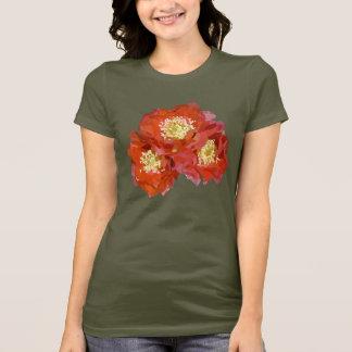 Camiseta Pintura vermelha da flor