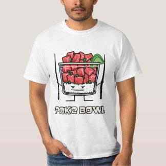 Camiseta Pique o aku dos chopsticks da salada dos peixes