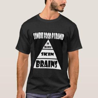 Camiseta Pirâmide de comida do zombi