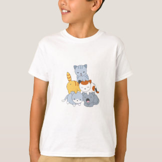 Camiseta Pirâmide do gato - grupo de gatos