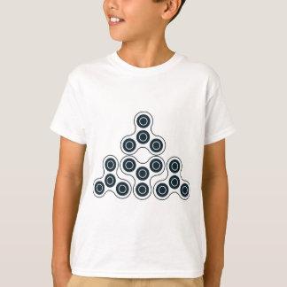 Camiseta Pirâmide do girador da inquietação