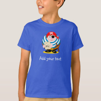 Camiseta Pirata bonito dos desenhos animados do