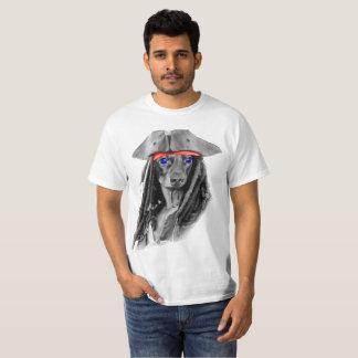Camiseta Pirata do cão do Wiener