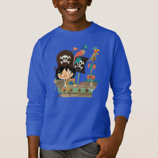 Camiseta Pirata e navio de pirata