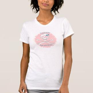 Camiseta Pirata imediato cor-de-rosa