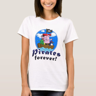 Camiseta pirates forver pig, comic, penguin, frog