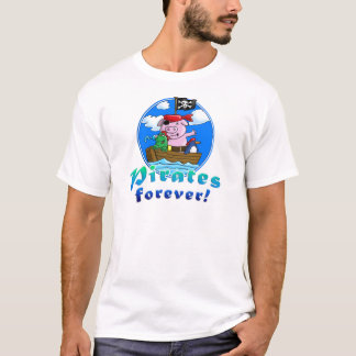 Camiseta pirates forver pig, comic, penguin, frog
