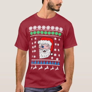Camiseta Pisc a papai noel o Natal feio principal