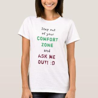 Camiseta Piso fora das mulheres da zona de conforto