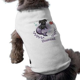 Camiseta Pitbull 2 da sereia com nome de animal de