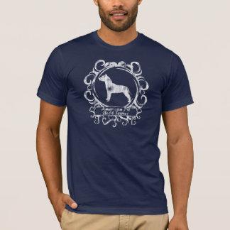 Camiseta Pitbull Terrier americano resistido elegante