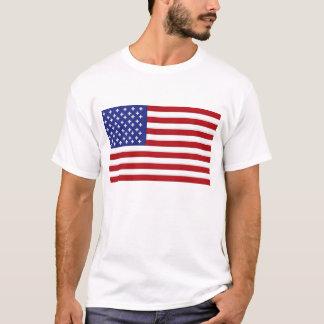 Camiseta Pixelated_Design: Bandeira americana