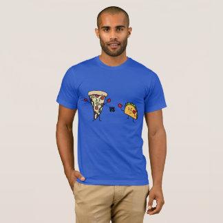 Camiseta Pizza de Pepperoni CONTRA o Taco: Mexicano contra