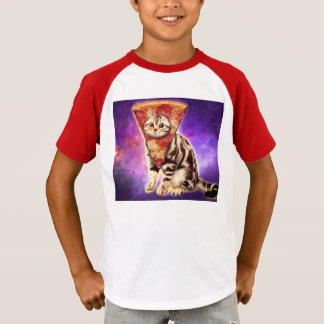 Camiseta Pizza do gato - espaço do gato - memes do gato