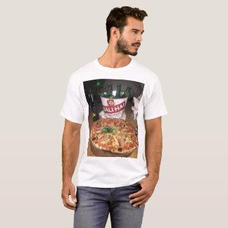 Camiseta Pizza e cerveja em Bali