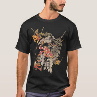 Camiseta Placa Throated 47 de Audubon do colibri do rubi