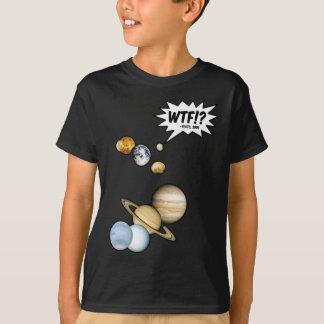 Camiseta Planeta Pluto WTF!? Astronomia engraçada do geek