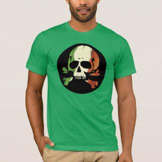 Camiseta Planície irlandesa do crânio da bandeira