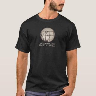 Camiseta Planícies ilimitadas a compartilhar