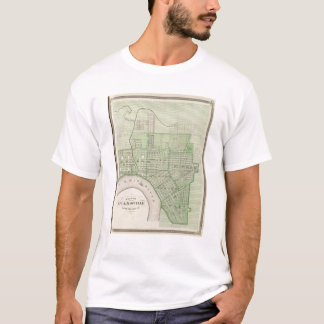Camiseta Plano de Evansville, Vanderburgh Co