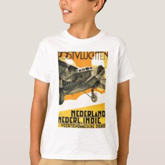 Camiseta PLANO DE POSTVLUCHTEN. Anúncio retro 1933 do avião