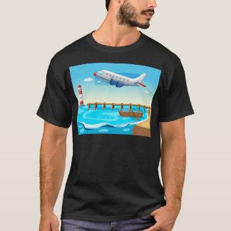Camiseta Plano e praia