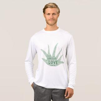Camiseta Planta de Alove Vera ilustrada com palavra do amor