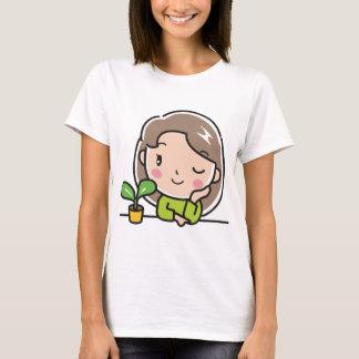 Camiseta Plantas crescentes