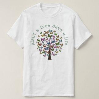 Camiseta Plante borboletas de uma árvore
