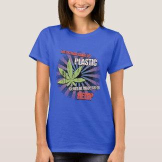 Camiseta Plástico do cânhamo