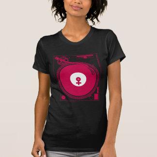Camiseta Plataforma fêmea da plataforma giratória do