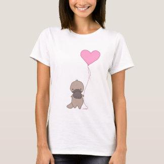 Camiseta Platypus que guardara o balão do coração
